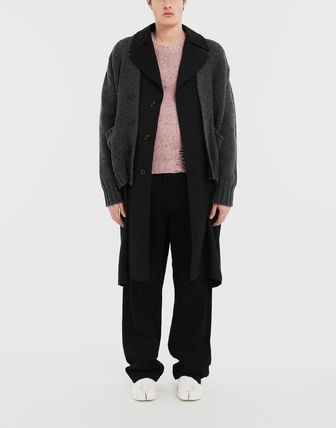 Maison Margiela Knits & Sweaters Wool Bi-color Long Sleeves Plain Knits & Sweaters 4