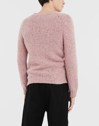 Maison Margiela Knits & Sweaters Wool Bi-color Long Sleeves Plain Knits & Sweaters 5