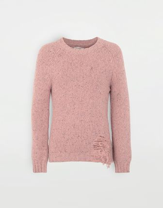 Maison Margiela Knits & Sweaters Wool Bi-color Long Sleeves Plain Knits & Sweaters 6
