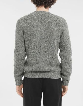 Maison Margiela Knits & Sweaters Wool Bi-color Long Sleeves Plain Knits & Sweaters 11
