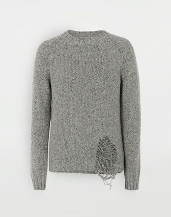 Maison Margiela Knits & Sweaters Wool Bi-color Long Sleeves Plain Knits & Sweaters 12