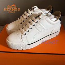 HERMES Casual Style Leather Low-Top Sneakers