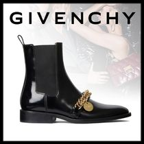 GIVENCHY Chain Plain Elegant Style Ankle & Booties Boots