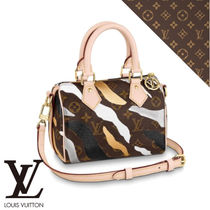 Louis Vuitton SPEEDY Camouflage Monogram Casual Style Canvas 2WAY Party Style