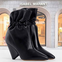 Isabel Marant Plain Leather Elegant Style Ankle & Booties Boots