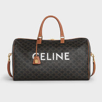 CELINE Triomphe Canvas Unisex Calfskin Canvas Blended Fabrics 2WAY Leather Logo
