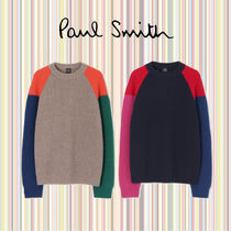 Paul Smith Crew Neck Casual Style Wool Cashmere Long Sleeves Medium