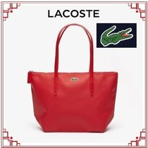 LACOSTE Casual Style Collaboration Plain PVC Clothing Totes
