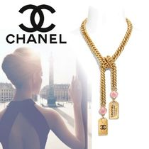 CHANEL Costume Jewelry Unisex Blended Fabrics Street Style Chain