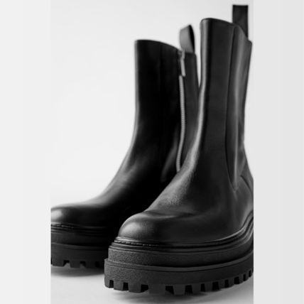 ZARA More Boots Street Style Leather Boots Boots 7