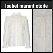 Isabel Marant Linen Long Sleeves Medium Elegant Style Shirts & Blouses