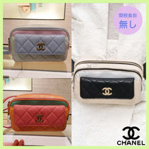 CHANEL Casual Style Plain Leather Hip Packs