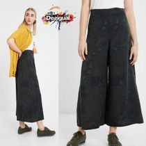 Desigual Printed Pants Casual Style Long Midi Short Length