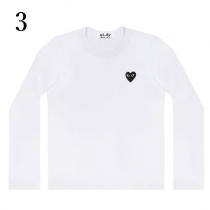 COMME des GARCONS Crew Neck Crew Neck Unisex Plain Short Sleeves Logo Crew Neck T-Shirts 4