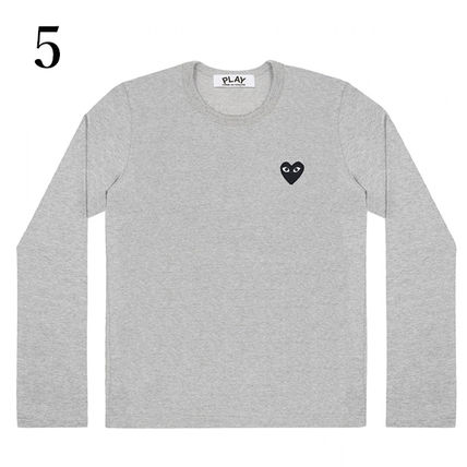 COMME des GARCONS Crew Neck Crew Neck Unisex Plain Short Sleeves Logo Crew Neck T-Shirts 6