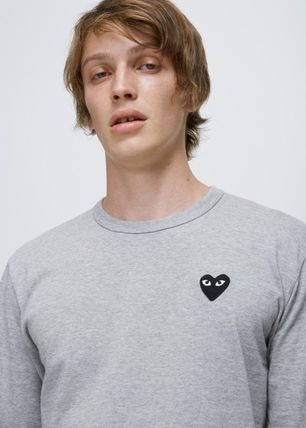 COMME des GARCONS Crew Neck Crew Neck Unisex Plain Short Sleeves Logo Crew Neck T-Shirts 8