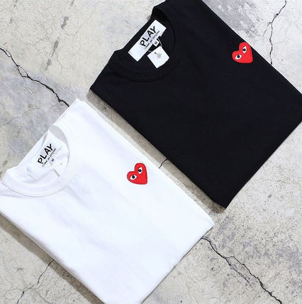 COMME des GARCONS Crew Neck Crew Neck Unisex Plain Short Sleeves Logo Crew Neck T-Shirts 11
