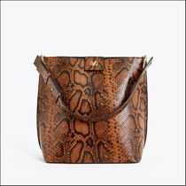 Uterque Casual Style Leather Party Style Python Elegant Style