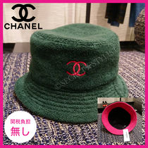 CHANEL Bucket Hats Khaki Hats & Hair Accessories