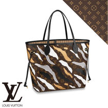 Louis Vuitton Camouflage Monogram Casual Style Canvas A4 Totes