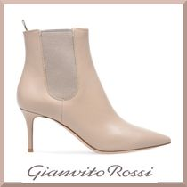 Gianvito Rossi Casual Style Plain Leather Pin Heels Office Style