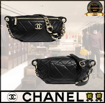 CHANEL Casual Style Lambskin 2WAY Chain Plain Leather Elegant Style