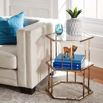Gold Furniture Clear Furniture Night Stands Table & Chair