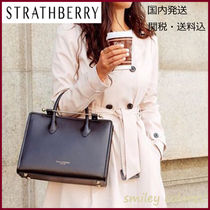 STRATHBERRY Leather Office Style Elegant Style Handbags