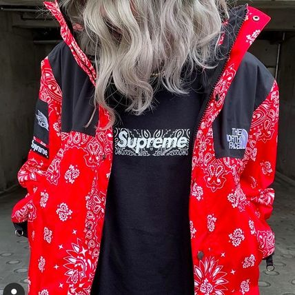 Supreme Hoodies Unisex Street Style Long Sleeves Plain Cotton Logo Hoodies 14
