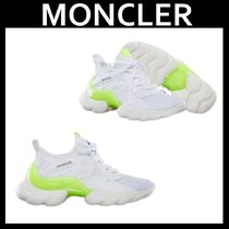 MONCLER Rubber Sole Casual Style Plain Leather Low-Top Sneakers