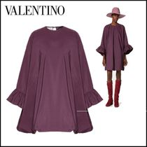 VALENTINO Crew Neck Casual Style Plain Party Style Elegant Style