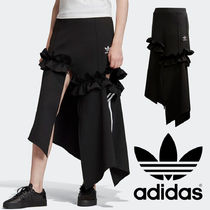 adidas Flared Skirts Casual Style Blended Fabrics Street Style