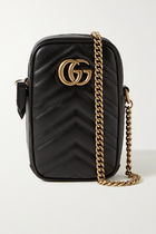 GUCCI GG Marmont Unisex Chain Plain Leather iPhone 8 iPhone 8 Plus iPhone X