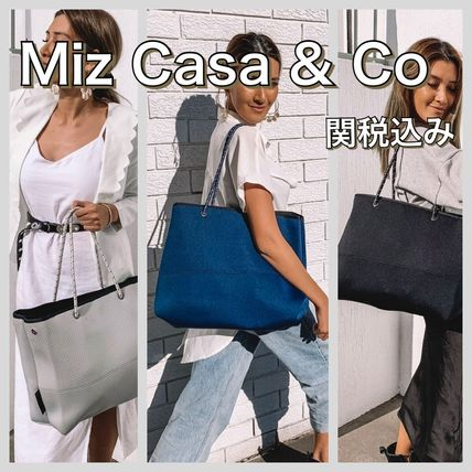 Casual Style A4 Plain Elegant Style Totes