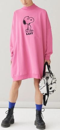 Casual Style Street Style Collaboration Long Sleeves Cotton
