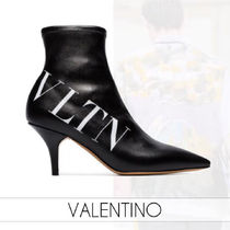 VALENTINO VLTN Casual Style Street Style Leather Pin Heels Party Style