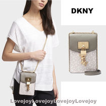 DKNY Casual Style Faux Fur Chain Elegant Style Shoulder Bags