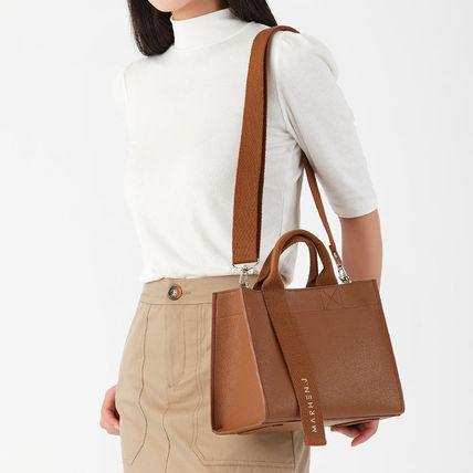Casual Style Street Style 2WAY Plain PVC Clothing Crossbody