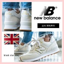 New Balance 574 Casual Style Unisex Street Style Plain Logo Low-Top Sneakers