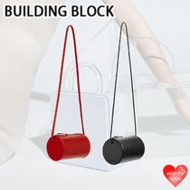 Building Block Casual Style Street Style 2WAY Plain Leather Party Style