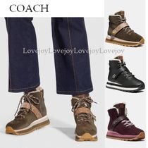 Coach Platform Round Toe Casual Style Suede Blended Fabrics Plain