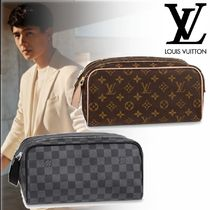Louis Vuitton DAMIER GRAPHITE Monogram Unisex Canvas Street Style Bag in Bag Leather Logo