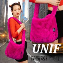 UNIF Clothing Casual Style Street Style Plain Party Style Shoulder Bags