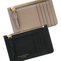 Tory Burch PERRY Plain Leather Card Holders