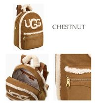 UGG Australia Casual Style Suede Street Style Plain Backpacks
