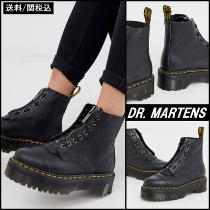 Dr Martens Lace-up Round Toe Lace-up Plain Leather Lace-up Boots