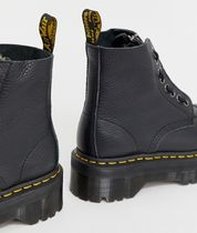 Dr Martens Lace-up Round Toe Lace-up Plain Leather Lace-up Boots 4