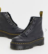 Dr Martens Lace-up Round Toe Lace-up Plain Leather Lace-up Boots 5