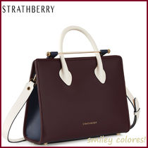 STRATHBERRY Leather Office Style Elegant Style Formal Style  Handbags