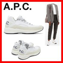 A.P.C. Rubber Sole Casual Style Plain Low-Top Sneakers